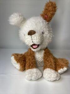 Hallmark Interactive Talking Story Buddy NUGGET Tan & White Plush Puppy Dog