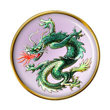 Chinese Fire Dragon Lapel Pin Badge