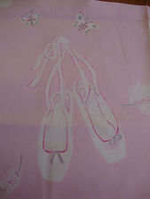 68cm Sanderson Ballet Shoes Pink Cotton Curtain Fabric Remnant