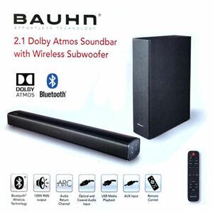 Bauhn 2.1 Dolby Atmos Soundbar with Wireless Subwoofer Bluetooth v4.2 HDMI USB