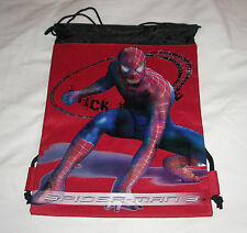 Red Amazing Spider-Man Licensed Drawstring Backpack Sling Child Tote Gym Bag