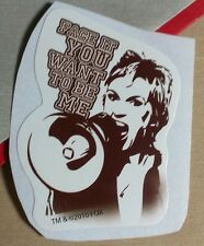 GLEE GLEEK FACE IT YOU WANT TO BE ME JANE LYNCH SUE SYLVESTER TV STICKER