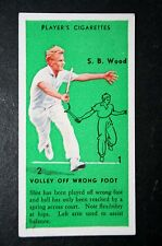 Tennis     USA  Davis Cup   Wood   Original 1930's Vintage Action Card