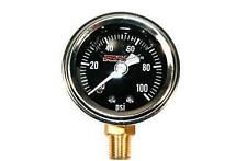 Feuling Black Face Bottom Port Oil Pressure Gauge for Harley Motorcycle 9041