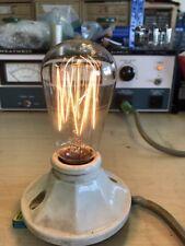 Antique Working Westinghouse Squirrel Cage Filament Light Bulb Edison Base