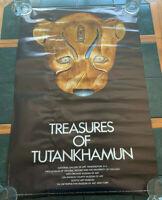 1976 TREASURES OF TUTANKHAMUN METROPOLITAN MUSEUM OF ART EXHIBIT POSTER 25x38