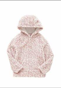 Kids Girl Animal Print Fleece Hoodie  Pink 3D ears Hoody Sizes 7-14 years
