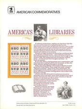 #169 20c America's Libraries #2015 USPS Commemorative Stamp Panel