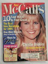 New McCall's Magazine January 1995 Christie Brinkley-M330
