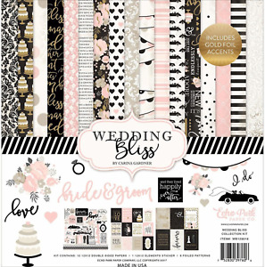 WEDDING BLISS Collection 12X12 Scrapbooking Kit Echo Park WB129016 New