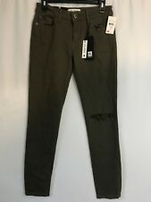DL1961 Jeans Womens 27 Olive Green Distressed Margaux Instasculpt Ankle Skinny