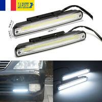 2x Voiture SUV Jeep Blanc DRL COB LED Feux De Jour Diurne Lampe lumière de tête