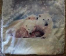 Oso Polar Fluffy Brillo Funda De Cojín 48X 48 Cm