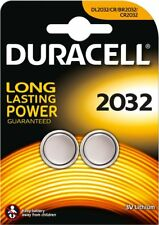 2 x Duracell CR2032 3V Lithium Coin Cell Batteries- Best Before 2025- NEW