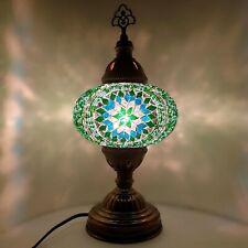 Turkish Table Lampe Marocain Coloré Verre Mosaïque Lampe Lumière Ce Testé -