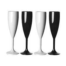Elite Premium Champagne Flutes 200ml Mixed Colours - Pack of 4