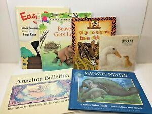LOT 6 Childrens BOOKS Kids Young Adult Easy Animals Ballerina Duck Tiger Manatee