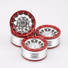 "ALIENTAC Four(4) 1.9"" Wide 1"" Alloy Beadlock Wheel Rim for 1/10 RC Model #027"