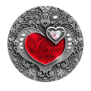 I lOVE YOU 2$ silver coin 2 Oz. Silver Niue Island 2020