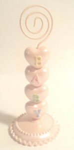 Pink Baby Shower Place Card Holder   (1) - Party Supplies