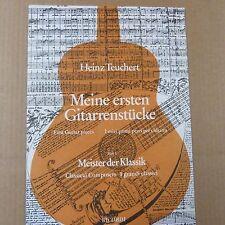 Guitarra Heinz Teuchert Meine ersten gitarrenstuecke, piezas de guitarra por primera vez, libro 1