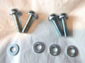 FOUR NEW CHROME BIKE V BRAKE or CANTILEVER BOSS BOLTS with WASHERS Freepost