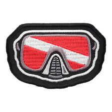 Scuba Diver Mask Flag Patch, Scuba Diver Flag Patches