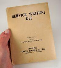 "WW2 Royal Canadian Artillery ""Service Writing Kit""  Paper & Envelopes Stationery"