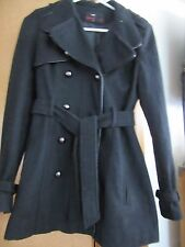 Women's Miss Sixty  black thigh length Jacket W/ belt. size S