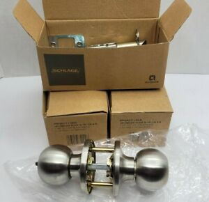 3x Dexter by Schlage J40CNA630 Corona Bed and Bath Knob, Satin Stainless Steel