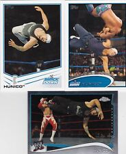 TOPPS WWE FROM MEXICO 3 HUNICO WRESTLING CARDS SEE SCAN