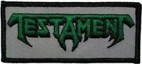 OFFICIAL LICENSED - TESTAMENT - LOGO EMBROIDERED SEW ON PATCH THRASH METAL