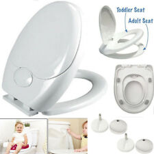 3 IN 1 Luxury Soft Close Bathroom Family Child Toilet Seat Fixing Hinges UKES