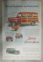 Willys Car Ad: Jeep Station Wagon ! from 1949 Size: 11 x 15 inches