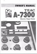 TEAC manuale di istruzioni user manual Owners Manual per a - 7300