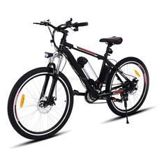 26 Zoll 21 Gang MountainBike E-MTB Elektro Fahrrad LED Scheibenbremsen Top