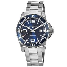 New Longines HydroConquest Quartz 44mm Blue Dial Steel Men's Watch L3.840.4.96.6