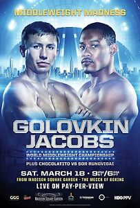 GENNADY GOLOVKIN v DANIEL JACOBS MIDDLEWEIGHT MADNESS TITLE PROMO POSTER