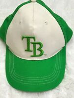 Tampa Bay Rays MLB  Baseball Cap Hat Green White One Size Hook & Loop Strap