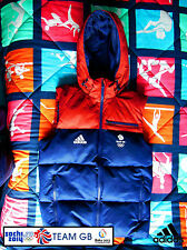 ADIDAS TEAM GB ISSUE - TRAINING FOR RIO 2016 -ATHLETE PADDED 'PUFFA' HOODED VEST
