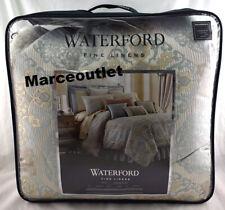 Waterford Linens Jonet 4 Piece Queen Comforter Set Cream / Aqua