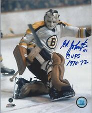 ED JOHNSTON BOSTON BRUINS AUTOGRAPH 2X STANLEY CUP CHAMP PHOTO 8X10FREE SHIPPING