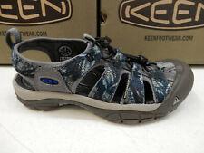 b42939c1da25 Keen Mens Newport H2 Steel Grey Bright Blue Size 10.5