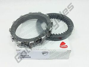 GENUINE Ducati OEM Dry Clutch Aluminum Basket Plates Discs Pack Set Kit