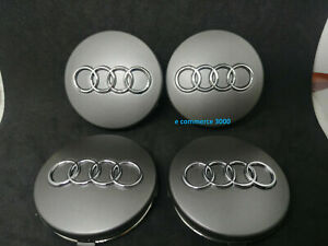 4 TAPPI COPRIMOZZO PER AUDI a1 a2 a3 a4 a5 a6 a8 s line tt rs Q 2 3 4 5 6  60 MM