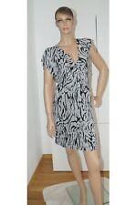 Sommer Sommerkleid Kleid Damen schwarz weiß Kurzarm S (1503C-PG2#) 02/2020SD