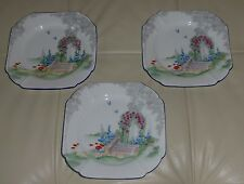 SHELLEY QUEEN ANNE ARCHWAY OF ROSES DESSERT PLATES 6.5""