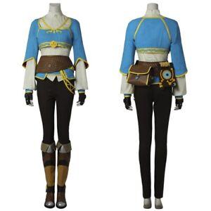 The Legend of Zelda Breath of the Wild Princess Zelda Cosplay Costume Suit
