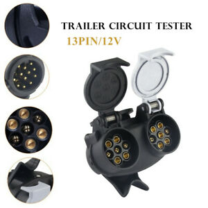 Trailer Plug Adapter 13 Core To 7 Core  Trailer Plug Adapter Converter Splitter