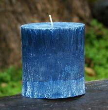80hr BLUE LOTUS BLOSSOMS Triple Scented OVAL Candle RELAXATION MEDITATION AROMA